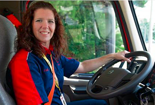 women trucks drivers make of small percent of total drivers